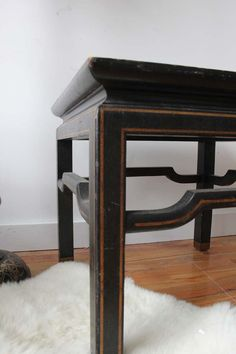 Pair of Black & Gold Ming Tables