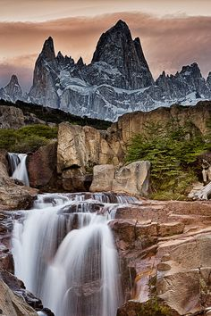 Stone river, Patagonia, Argentina, Fitz Roy