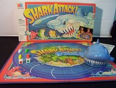 Shark Attack board game (circa 1988).. Best and most terrifying board game!!