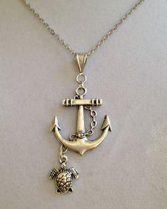 Anchor Necklace by joytoyou41 on Etsy, $30.00