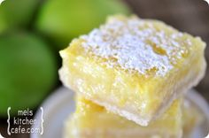 Lemon bars with butter milk