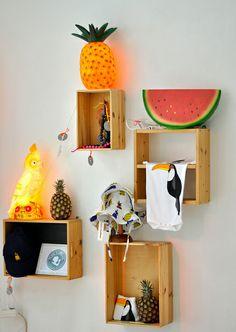 little berlin pop up // fruit lamps
