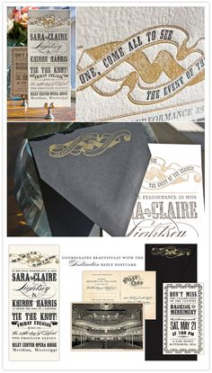 Vintage & awesome wedding invite suite!