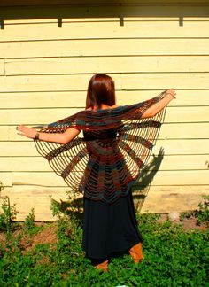Earth Child Crochet Spider Web / Circle Vest by retrotimbre, $80.00  {interesting design}