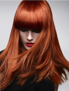 .Luv this color and her bangs