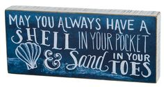 Shell In Your Pocket Chalk Box Sign