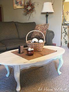 DIY painted coffee table.