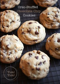 Oreo Stuffed Chocolate Chip Cookies - my kind of stuffing!