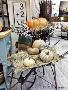 Perfectly Imperfect Fall Shop Displays | Project Decorating Roundup