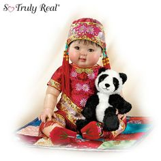 Mei Mei: 22″ Lifelike Asian Baby Doll With Detailed Costuming And Dragon Slippers by Ashton Drake « Game Searches