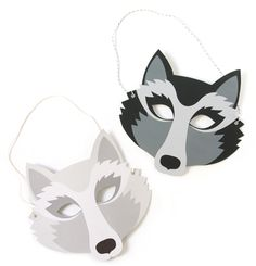 Masques de loup à télécharger !