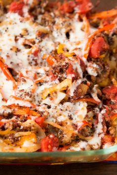 Quinoa Stuffed Peppers Casserole - Oh Sweet Basil