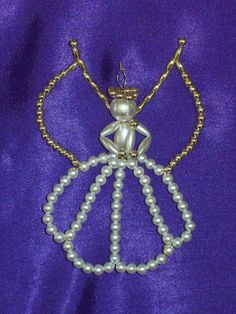 Angel In Glory Chrismon-style Ornament Bead Kit - heirloom quality beads. $7.00, via Etsy.