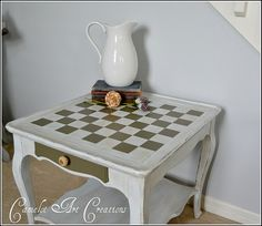 Side Table Makeover {chess or checkers anyone}