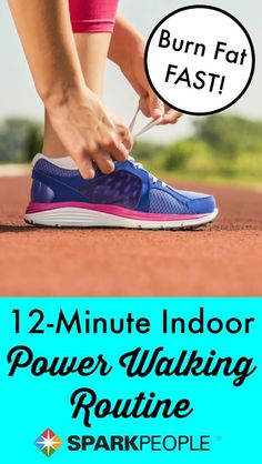 12-Minute Indoor Power Walking Workout. Good one for rainy/snowy days!| via @SparkPeople #fitness #exercise #workout