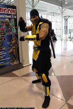 Scorpion cosplay...GET OVER HERE!!! (by DTJAAAAM, via Flickr)