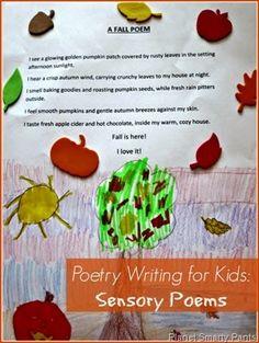 Poetry Writing for Kids: How to write sensory poems. #writingforkids