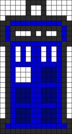TARDIS Perler Bead Pattern / Bead Sprite