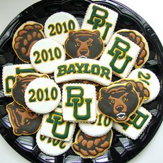 #Baylor cookies! YUM!  For my daughter and granddaughter - former and future Baylor Bears!