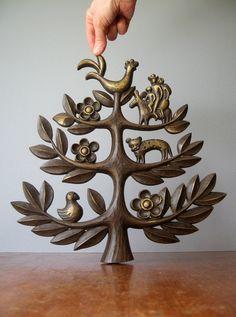 Mid Century Homco Tree of Life Wall Art