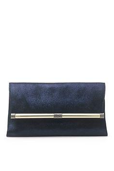 440 Envelope Foil Metallic Leather In Neptune Blue