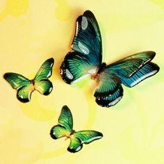 Little Windows 3-D Butterflies, blue