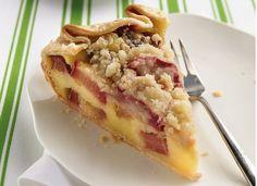 ... rhubarb cream pies food custards recip crust rhubarb crostata dessert