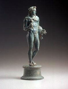 "This 200 year old Greek bronze statue is now against Pintrest's Acceptable Use Policy, which states ""You agree not to post User Content that:  is sexually explicit or contains nudity, partial nudity or pornography; ""  FYI....  Late Classical/Early Hellenistic Greek Bronze Herakles Atop a Circular Base    		Bronze with glass inlay, 4th-3rd century B.C.E. (this dating seems too  early to me, I would classify this as Augustan or Late Republican)."