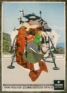 damien tran, inspir brainbread, art, collag, gig poster, poster archiv, posters, print, illustr