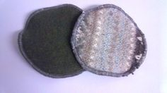 Recycled Nordic Wool Nursing Pads Pair Heavy by LagamorphLounge, $5.50