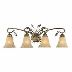 "Beau Jardin 33"" Rose Gold 4-Light Bathroom Light"