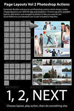 Page Layouts Photoshop Actions Vol 2