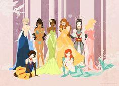 Alternate version of Disney Princesses
