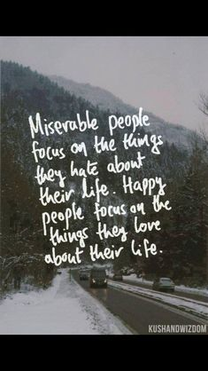 Miserable people complain, whine, and seek out the negative in everyone. Be happy people! Quit making mountains out of molehills! It's just plain annoying!
