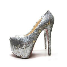 cheap Christian Louboutin Daffodile Thin Silver Pumps 160mm.Please click picture to buy and get more detail.