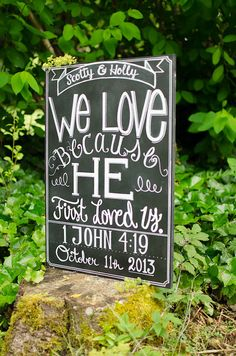 Wedding Chalkboard by GenuinelyGinger on Etsy, $75.00