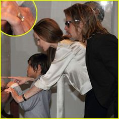 Angelina Jolie Wearing an Engagement Ring!