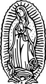 La Virgen De Guadalupe On Pinterest Virgen De Guadalupe Our Of Guadalupe Coloring Page
