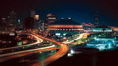 New Orleans' skyline with the Superdome in the foreground