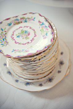 vintage plates x