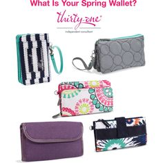 Thirty-One Wallets for Spring