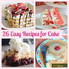 26 Easy Recipes for Cake: Dump Cakes, Upside Down Cakes & More | RecipeLion.com
