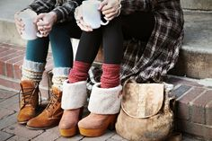 leggings, socks, and shoes fashion, style inspir, cloth, clog, beauti, shoe, boot socks, boots, leg warmers