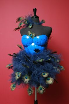 Peacock Halloween Costume Like the tutu/ corset idea with feathers