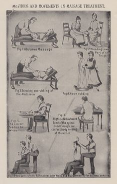"""Antique Massage Therapy Chart AEL Massage Therapy """"Like"""" us on Facebook!"""