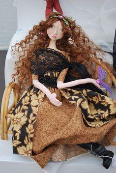 Miss Understood  - OOAK Art doll  Jan Bush-Wood