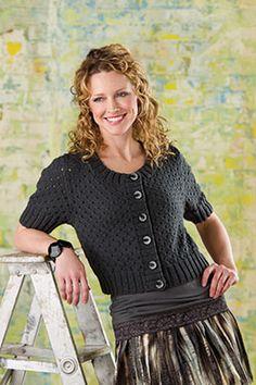 Dot & Dash cardigan free knitting pattern