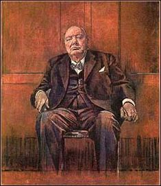 Graham Sutherland's portrait of Sir Winston Churchill ~ oh how Winston disliked this painting!
