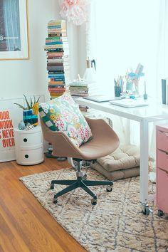 my home office + a rugs