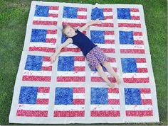 American Flag Quilt - free tutorial!
